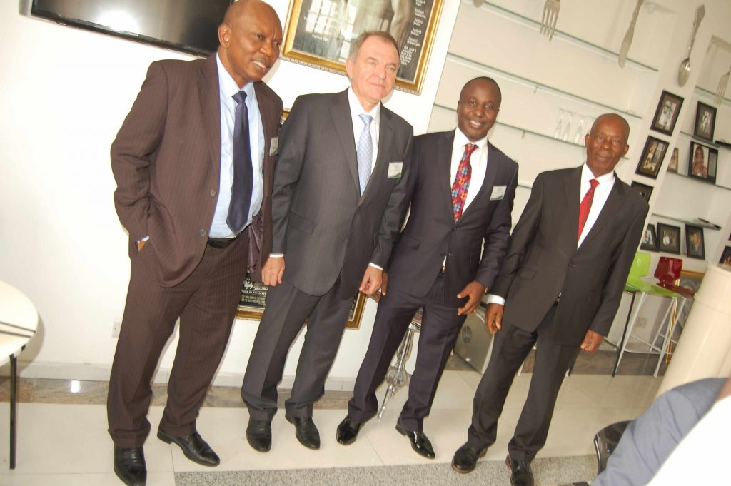 Prof Adebiyi Daramola; VC FUTA, Amb. Valerii Aleksandruk; Ukranian Ambassador to Nigeria, Prof Steve Azaiki; Iscest Chairman and Prof. Humphrey Ogoni VC Niger Delta University