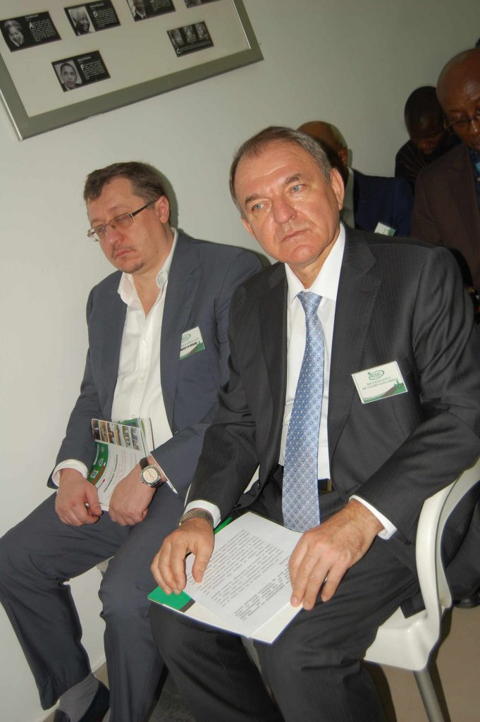Former Consular General of Ukrainan Embassy; Mykola Samosvatov and Ukranian Ambassador Valerii Aleksandruk at ICSEST 2015 Conference in Yenagoa