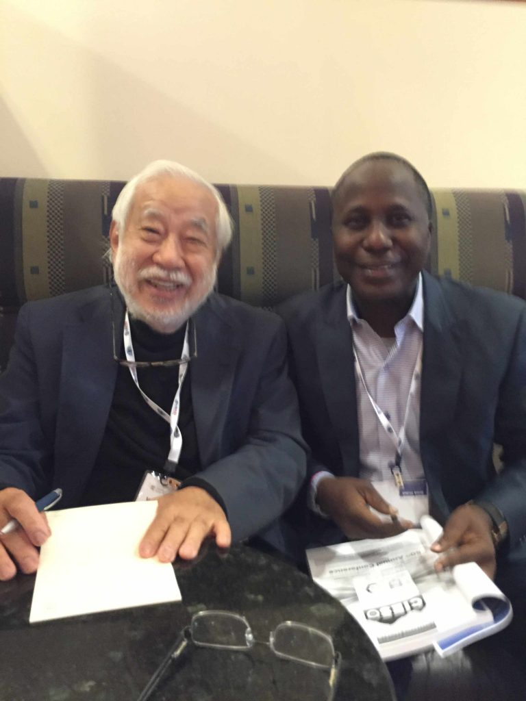 Prof. Victor Kobayashi Emeritus Professor, university of Hawaii and President of CIES 2006 with Prof Steve Azaiki at the 2016 CIES Conference in Vancuover Canada