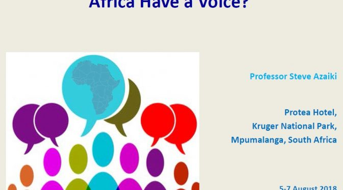 Global Education Debates: Should Africa Have a Voice?