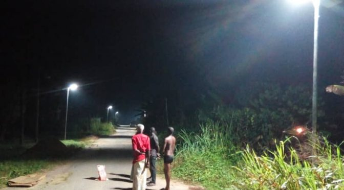 Solar Street light project for communities